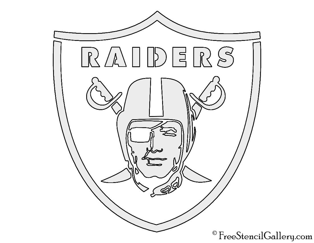 NFL Oakland Raiders Stencil.