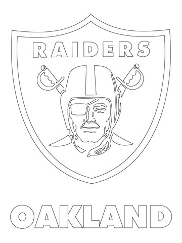 Oakland Raiders Logo coloring page.