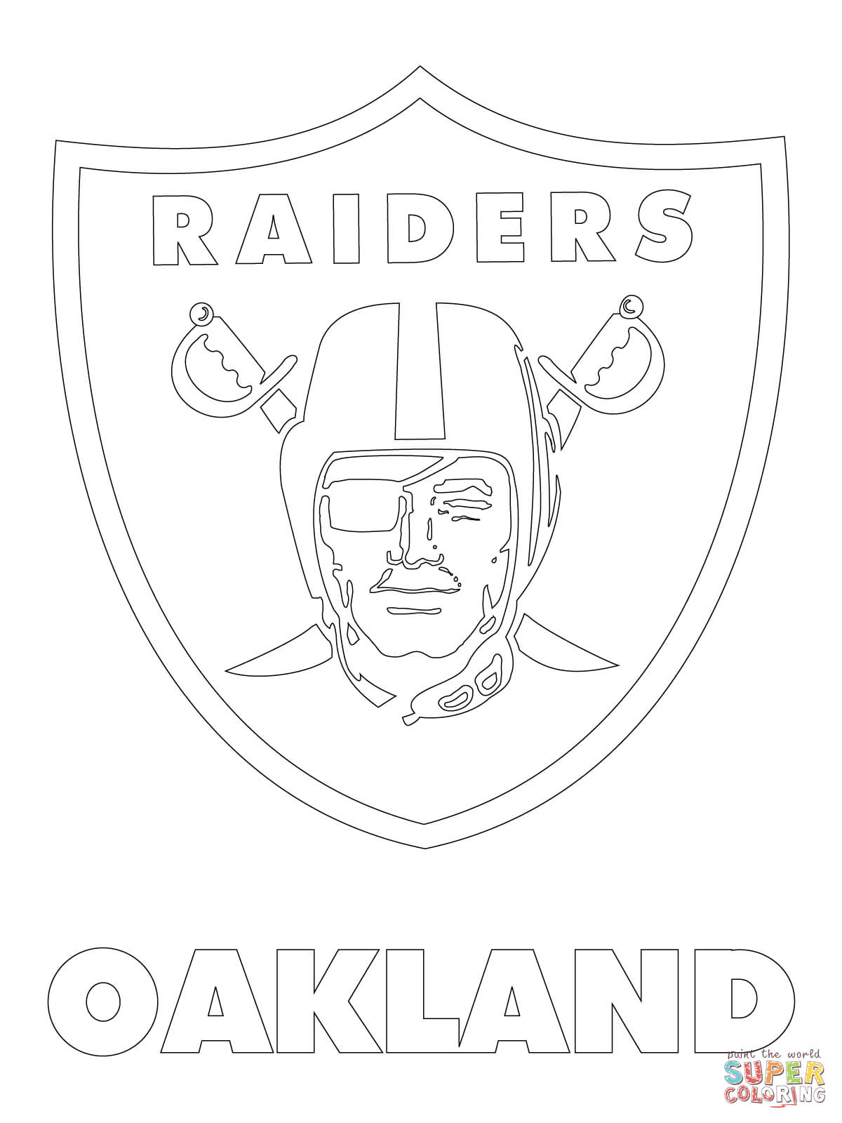 Oakland Raiders Logo coloring page.