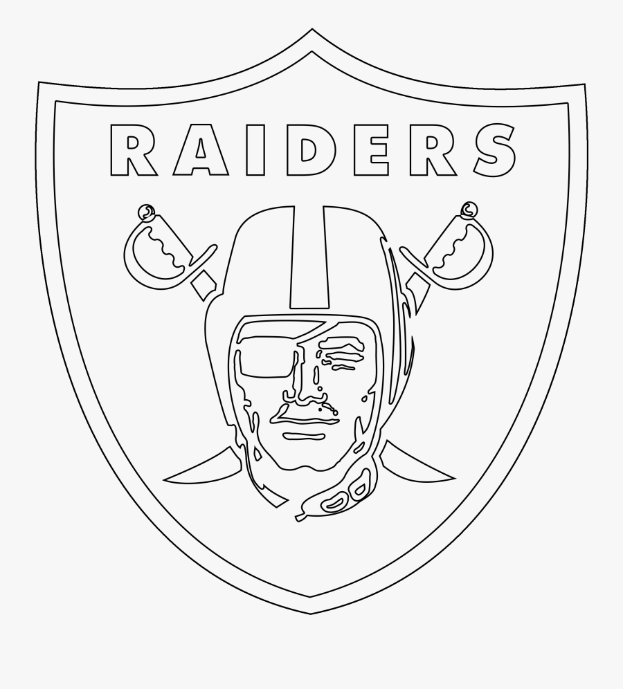 Oakland Raiders Logo Outline.