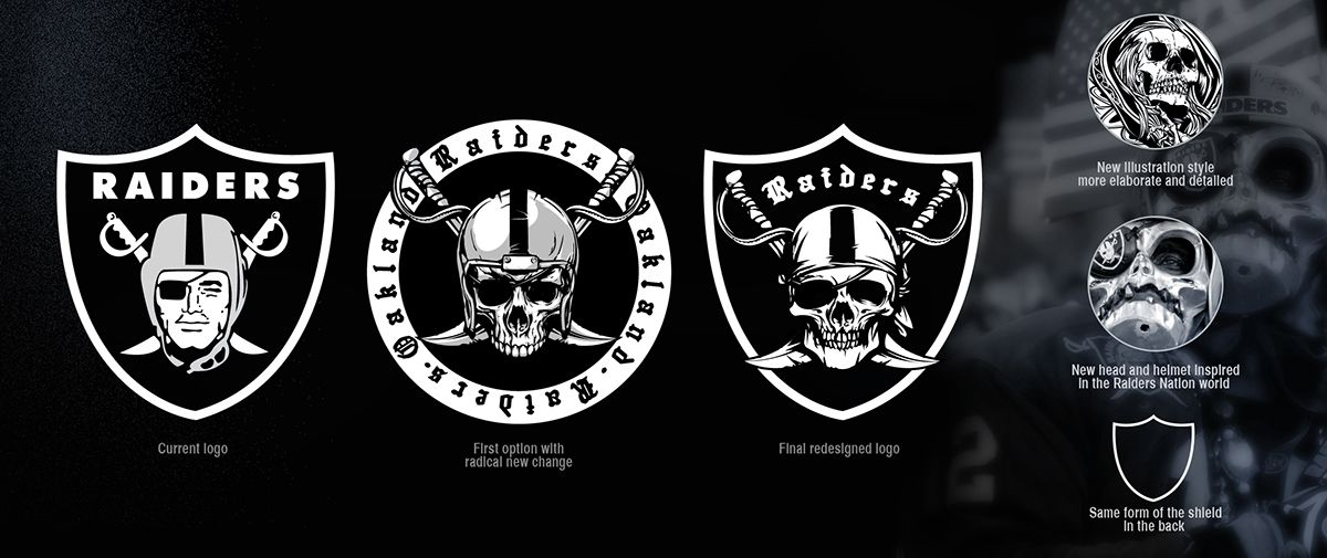 Personal branding project for the Oakland Raiders team. This.