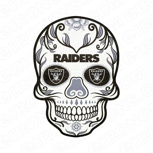 OAKLAND RAIDERS SKULL LOGO SPORTS NFL FOOTBALL T.