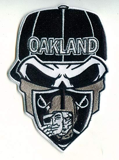 Oakland Raiders Raider Nation Skull/Bandanna Iron.
