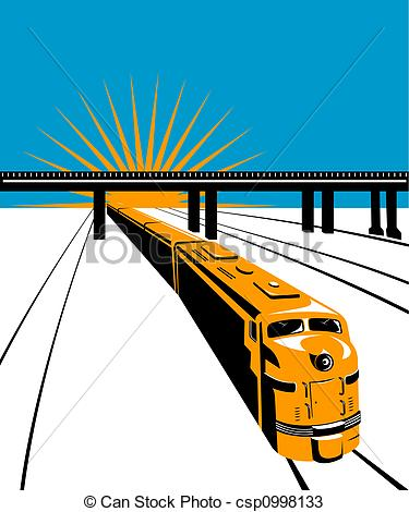 Railway Over Bridge Clipart.