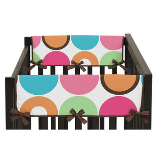Sweet Jojo Designs Side Crib Rail Guard Covers for the Deco Dot.