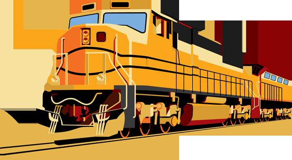 Rail Cargo Clipart.