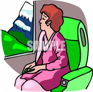 Passenger Train Clipart.