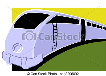 Electric train clipart.