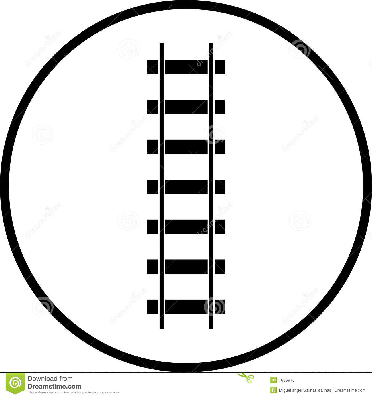 Train Road Clipart.