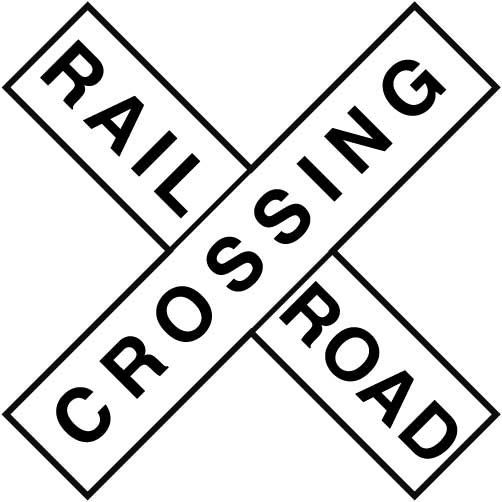Railroad crossing clip art.