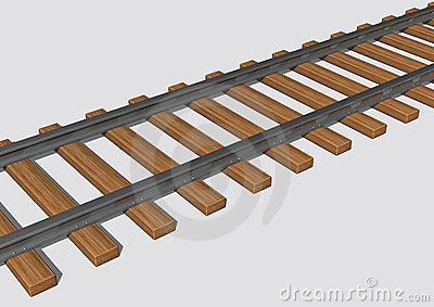 Railroad and road clipart.