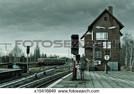 Stock Photograph of Railway station for rapid transit trains (S.