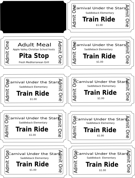 Clipart train tickets.
