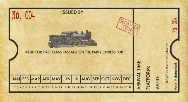 Clipart train ticket.