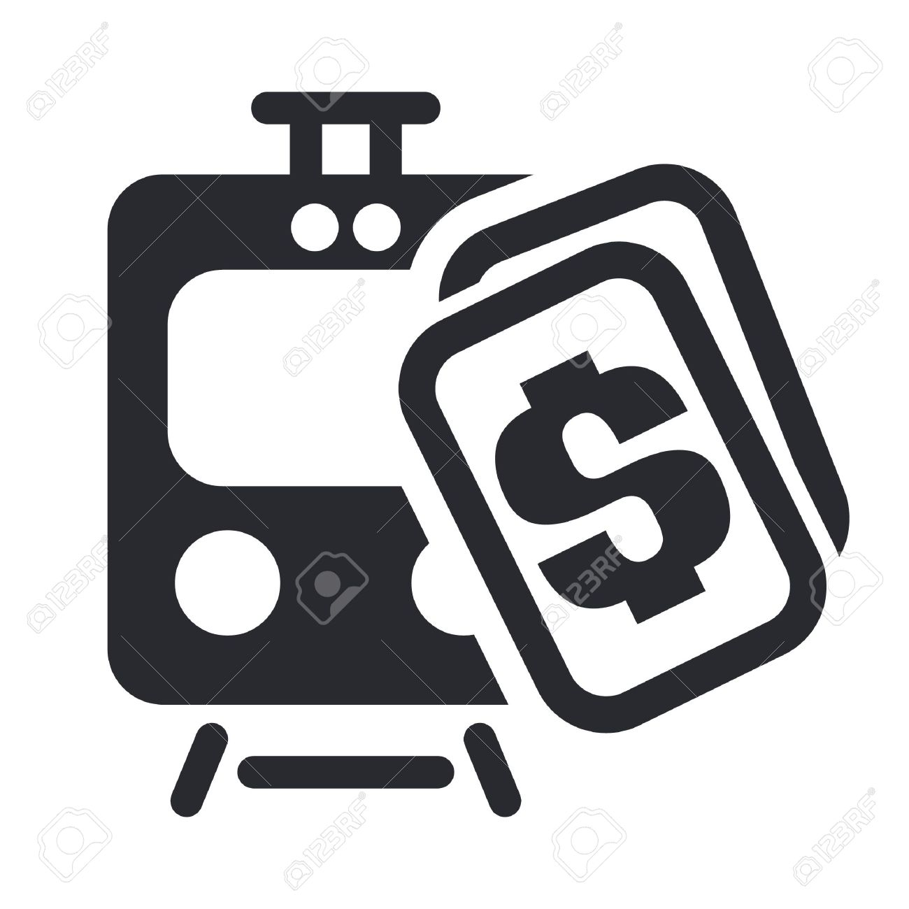 Vector Illustration Of Single Isolated Train Ticket Icon Royalty.