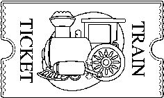 Train ticket clipart.