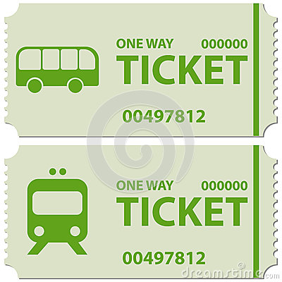 Train tickets clipart.
