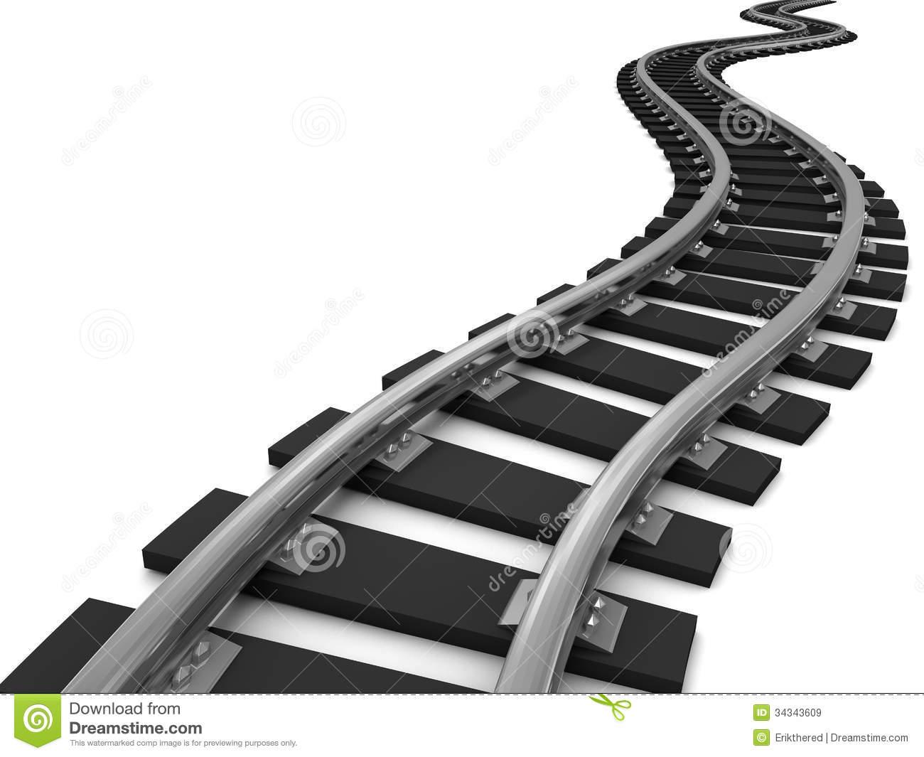 Train track clipart free.
