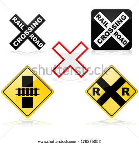 Railroad Crossing Stock Images, Royalty.