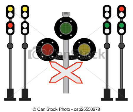 Vectors Illustration of railway traffic.