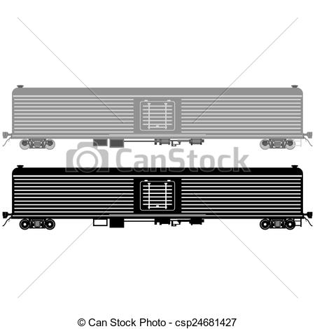 Vector Illustration of Railway wagon refrigerated.