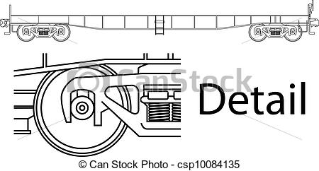 Vectors of Flat car.