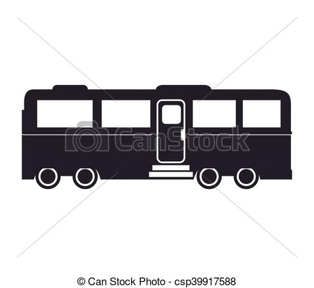 Vector of wagon of passengers train rail.
