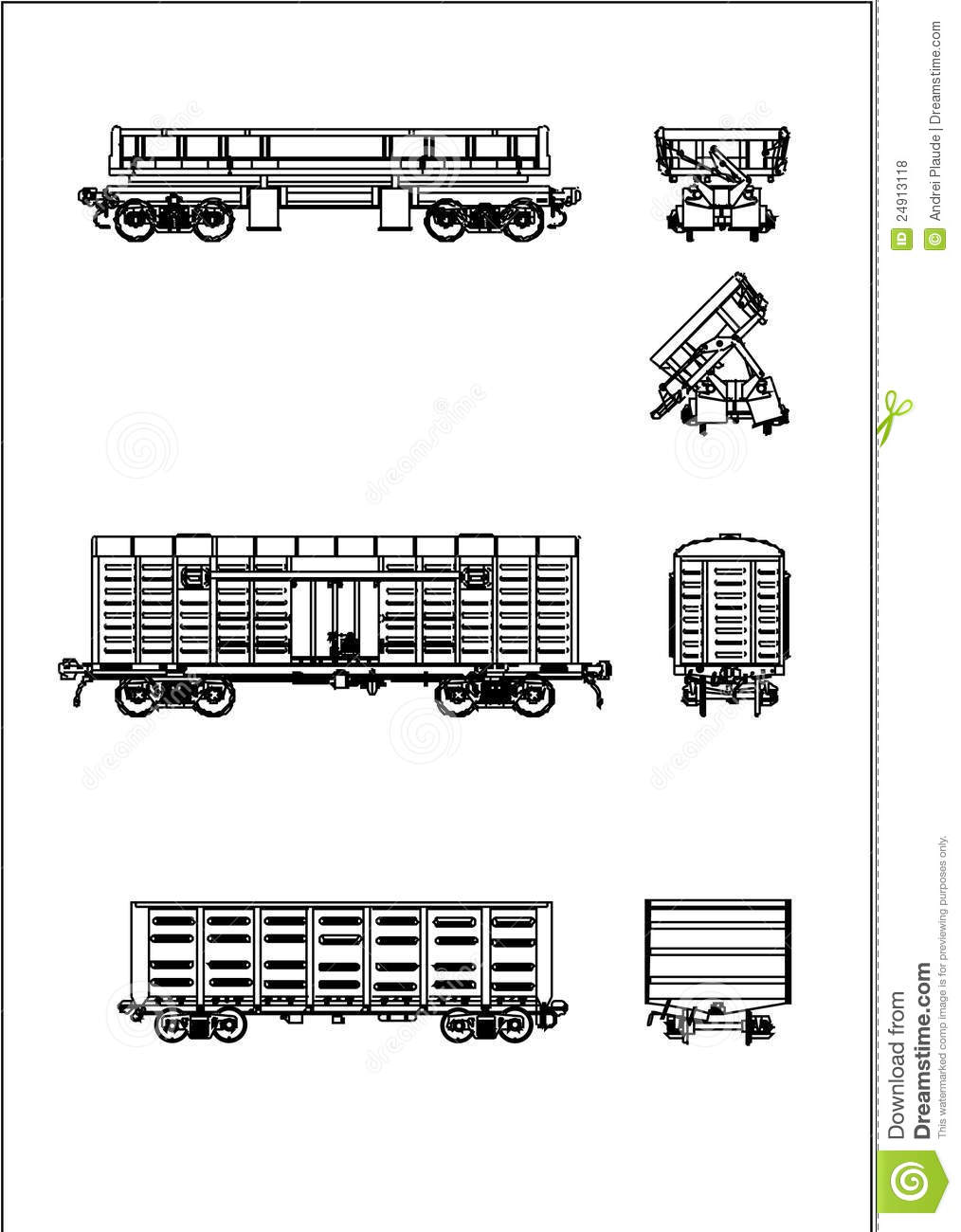 A Rail Wagon Vector Royalty Free Stock Photos.