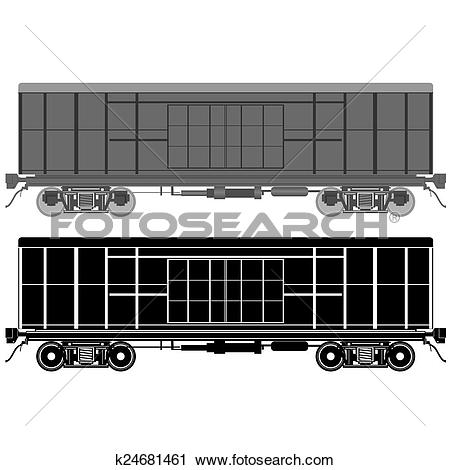 Clipart of Railway wagon.