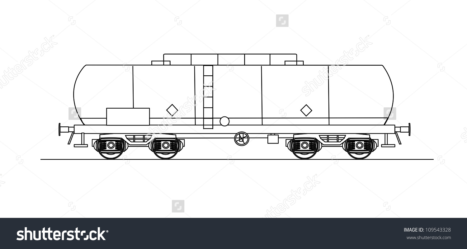 Cistern Rail Car Stock Vector 109543328.