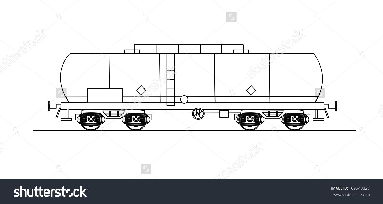 Cistern Rail Car Stock Vector 109543328.