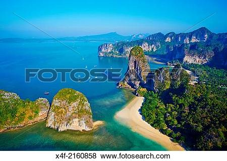 Pictures of Thailand, Krabi province, Railay beach, Hat Tham Phra.