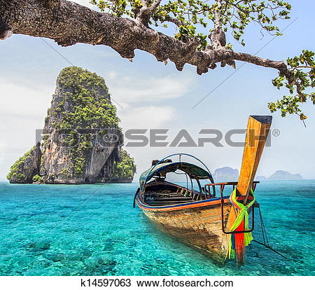 Stock Photo of Railay beach k14597063.