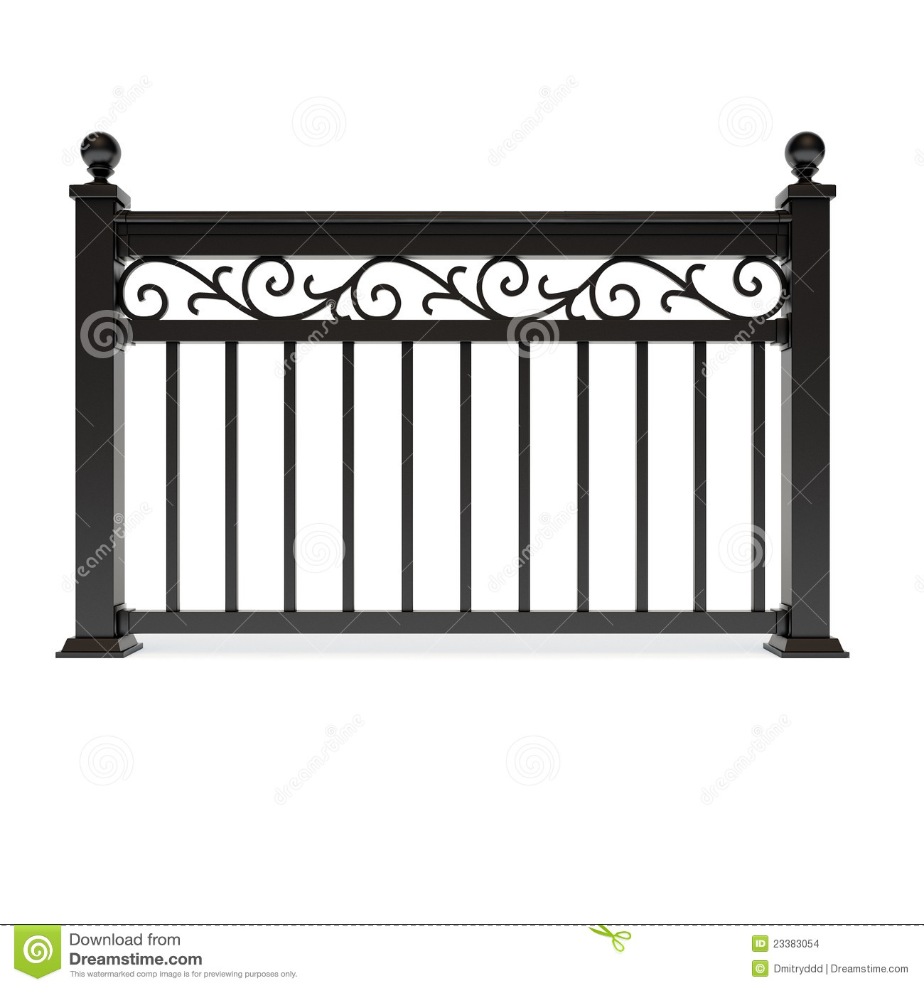 Black Metal Railing Pattern Stock Illustrations.