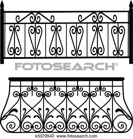 Clipart of Balcony railings k5379543.