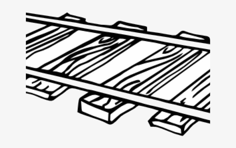 Railroad Tracks Clipart Outline.