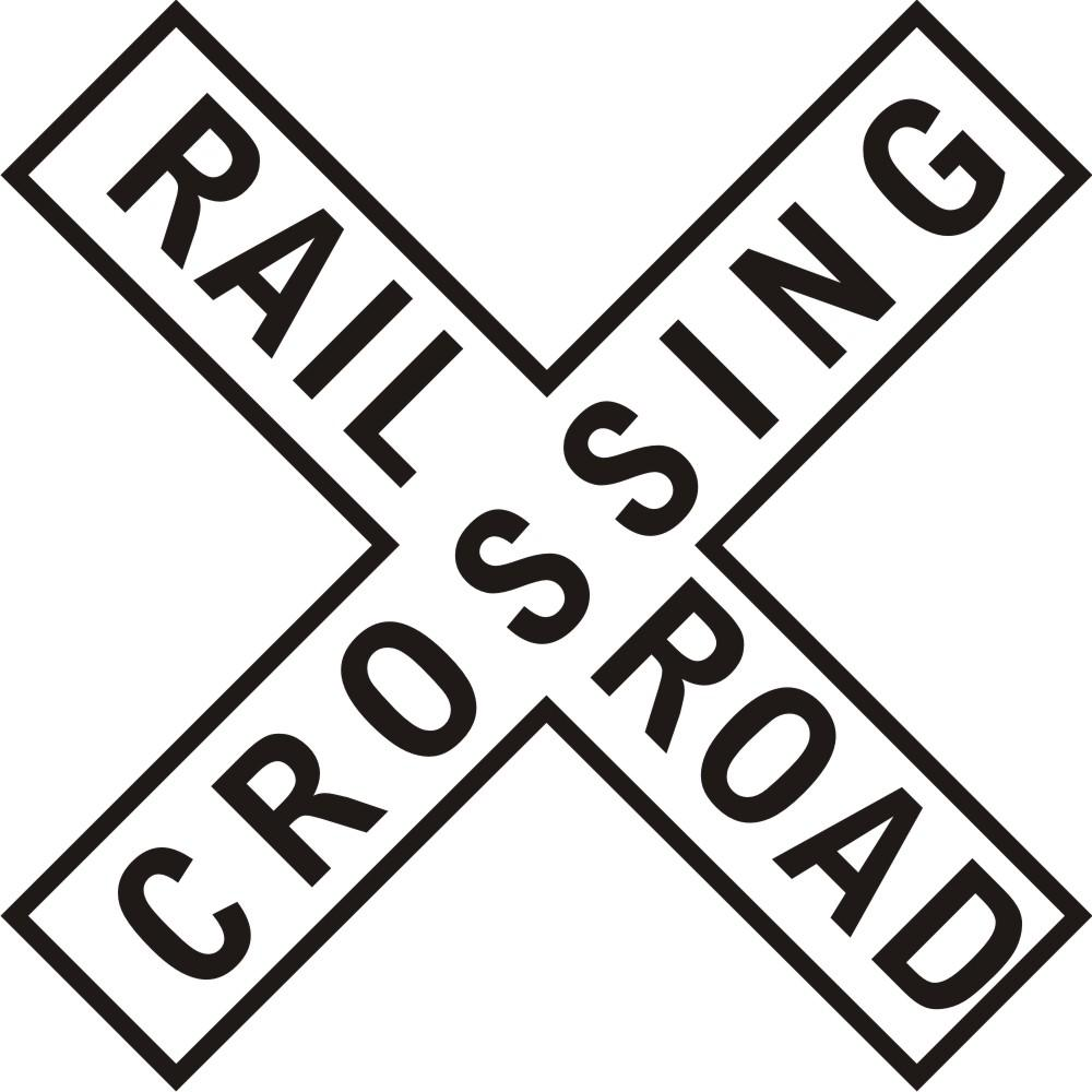 Railroad Crossing Sign Clip Art.
