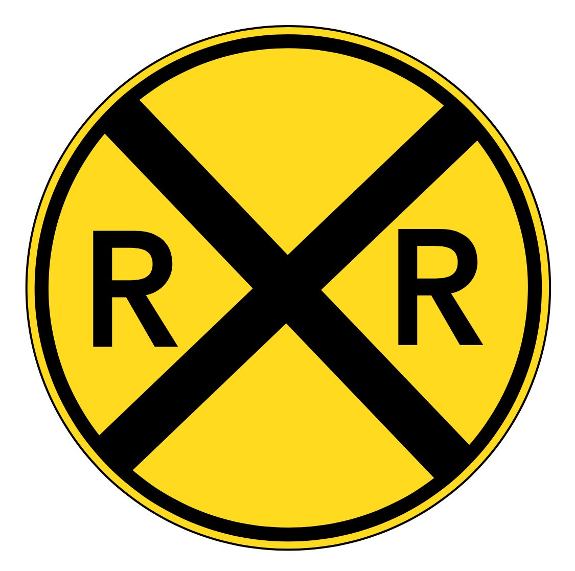FREE HIGH RESOLUTION Railroad Sign Digital Download, Clipart.
