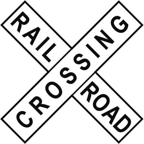 Railroad Crossing Sign Clipart.