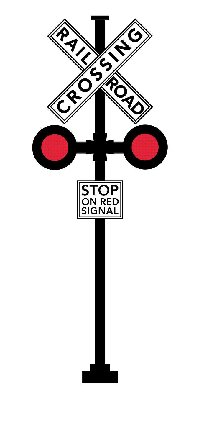 Railroad Stop Sign and Signal in 2019.
