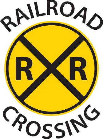 Railroad crossing sign clipart 3 » Clipart Station.