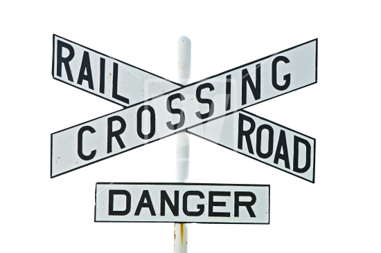 Railroad Crossing Sign PNG.