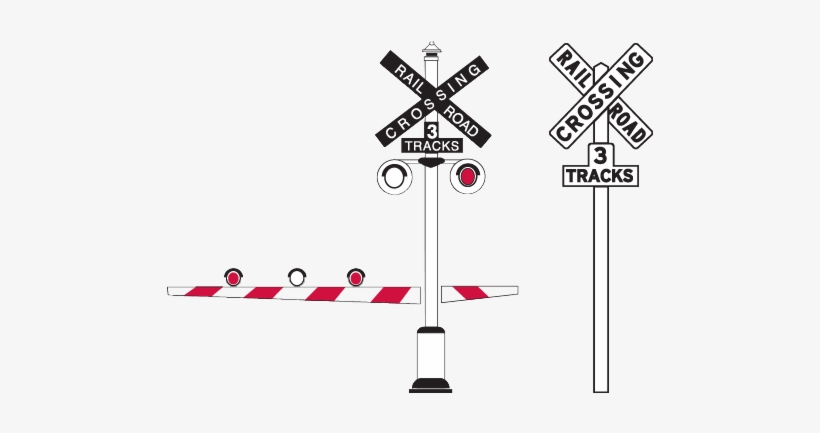 Railroad Crossing Signals Transparent PNG.