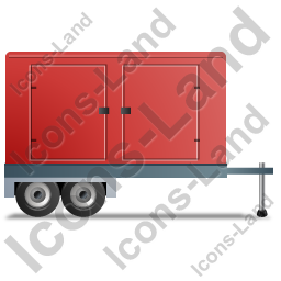 Ultra Silent Generator Trailer Right Red Icon, PNG/ICO Icons.