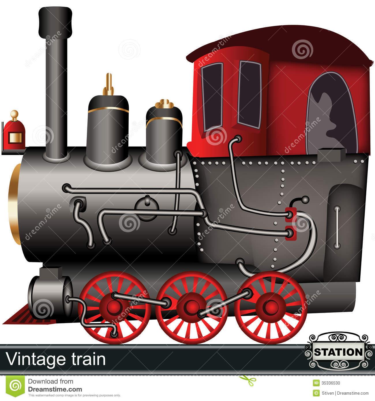 Vintage Train Stock Photo.