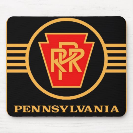 Pennsylvania Railroad Logo, Black & Gold Mousepads.