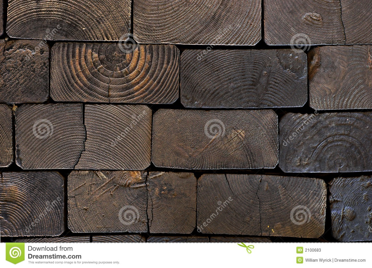 Railroad Ties Background Royalty Free Stock Photo.