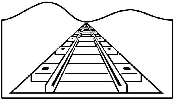 Train Tracks Clipart Black And White.