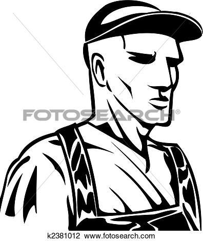 Clipart of Industrial Worker k2381012.