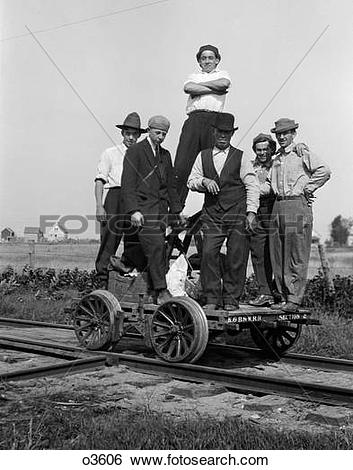 Stock Images of 1890S 1900S Portrait Group Of Men Railroad Workers.